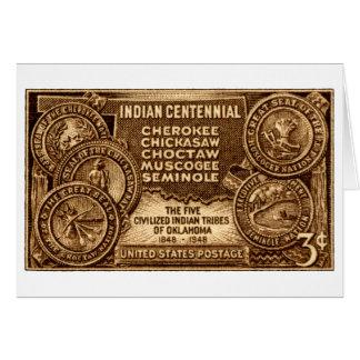 Indische hundertjährige Briefmarke 1948 Oklahomas Karte