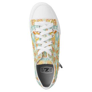Indische Kaleidoskop-Kunst Niedrig-geschnittene Sneaker