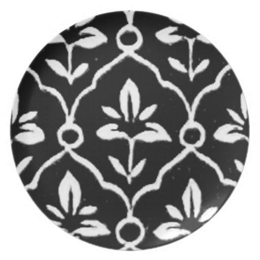 indische muster grafikdesign mit blumenplatte party teller zazzle. Black Bedroom Furniture Sets. Home Design Ideas
