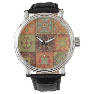 Indische Muster Uhr