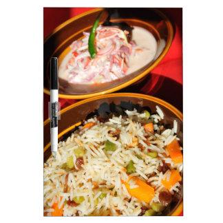 Indische Nahrung Trockenlöschtafel