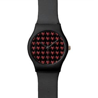 Indische Stammes- Maskenvorlage Uhr