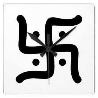 indische traditionelle hindische quadratische wanduhr