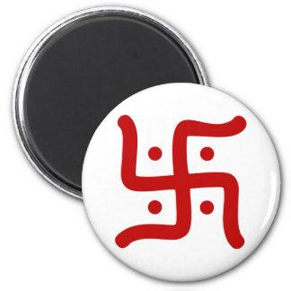 indische traditionelle hindische runder magnet 5,7 cm