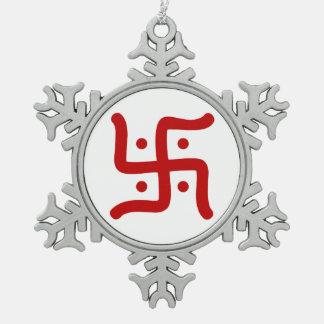 indische traditionelle hindische schneeflocken Zinn-Ornament