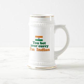 Indischer Curry 2 Bierglas