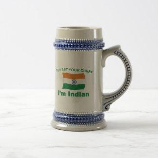 Indischer Curry Bierglas