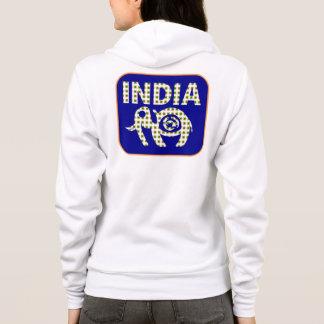 Indischer Elefant mit Kalb-Plakat Hoodie