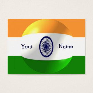 Indischer Flaggen-Entwurf personalisiert Visitenkarte