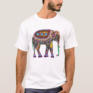 INDISCHER KUNST-ELEFANT T - Shirt