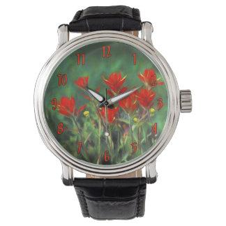 Indischer Malerpinsel Uhr