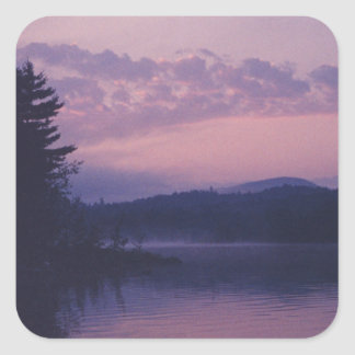 Indischer See, Adirondack Park, NY Quadratischer Aufkleber