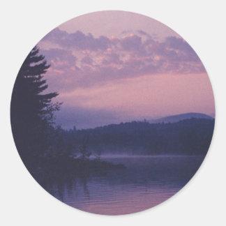Indischer See, Adirondack Park, NY Runder Aufkleber