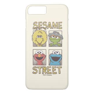 Indischer Sesam StreetVintage Charakter-Comic iPhone 8 Plus/7 Plus Hülle