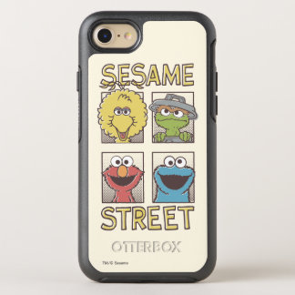 Indischer Sesam StreetVintage Charakter-Comic OtterBox Symmetry iPhone 8/7 Hülle