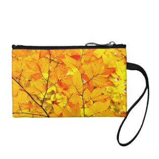 Indischer Sommer, gelber Herbst-Herbstlaub Kleingeldbörse