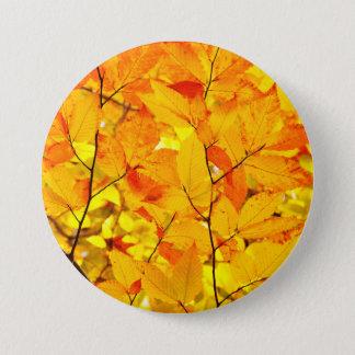 Indischer Sommer, gelber Herbst-Herbstlaub Runder Button 7,6 Cm