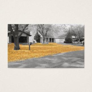 Indischer Sommer-goldenes Blätter Visitenkarte