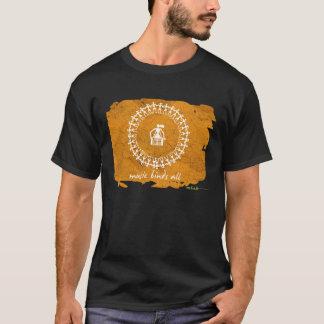 Indischer Stammes- Entwurfs-T - Shirt - Schwarzes