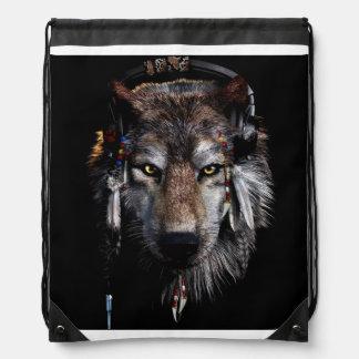 Indischer Wolf - grauer Wolf Turnbeutel