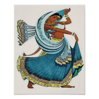 Indisches Frauen-Tanzen Poster