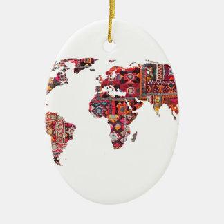 Indisches Gewebe-Karten-ErdPatchwork Keramik Ornament