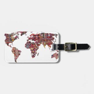 Indisches Gewebe-Karten-ErdPatchwork Kofferanhänger