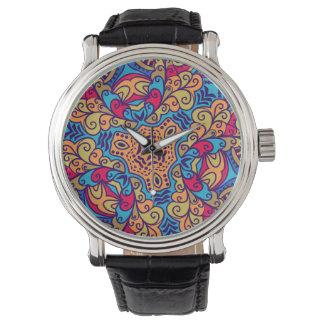 Indisches TraumKaleidoskop Uhr