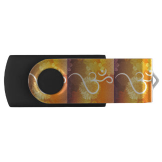 Indisches Verzierungsmuster mit Ohmsymbol USB Stick