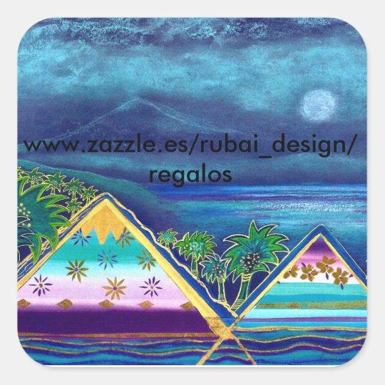 """Individualisierter Aufkleber  """"Paradise Island"""""""