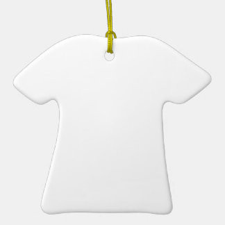 Individueller Anhänger in T-Shirt-Form Keramik Ornament