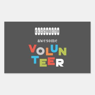 Individueller Name, fantastische freiwillige Rechteckiger Aufkleber