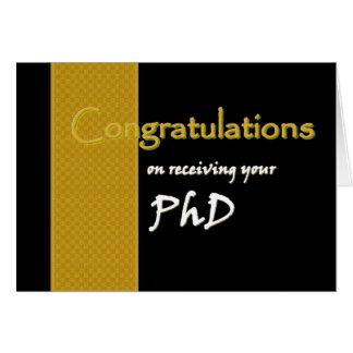 INDIVIDUELLER NAME Glückwünsche - PhD Karte
