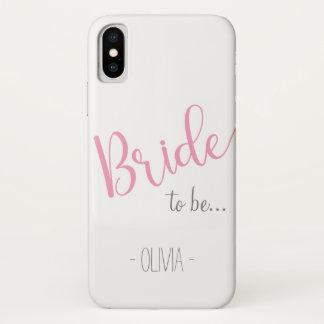Individueller Name iPhone Braut, zum Fall zu sein iPhone X Hülle