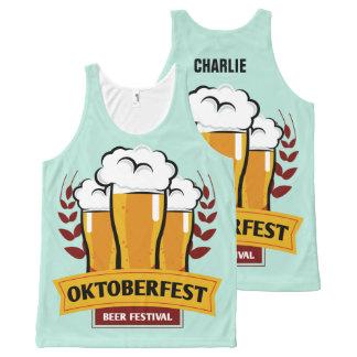 Individueller Name Oktoberfest Behälterspitze Komplett Bedrucktes Tanktop