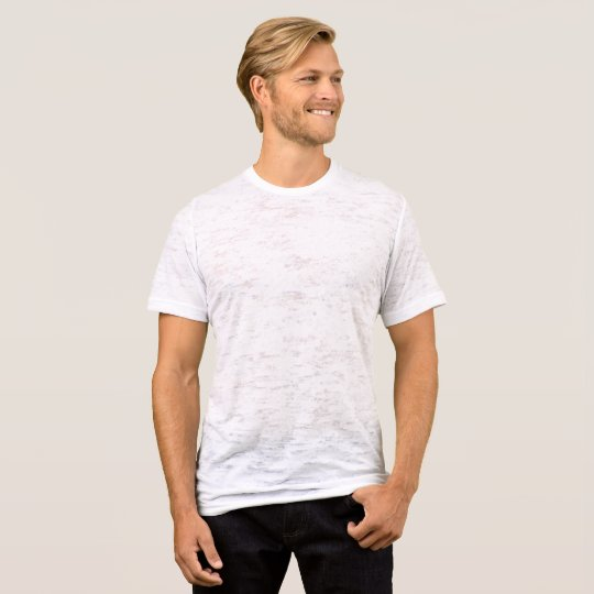 Canvas enganliegendes  Burnout T-Shirt für Männer