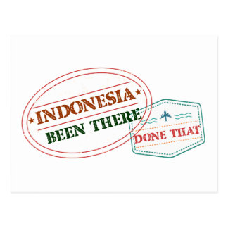 Indonesien dort getan dem postkarte
