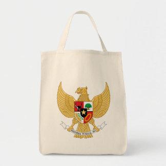 Indonesien-Emblem Einkaufstasche