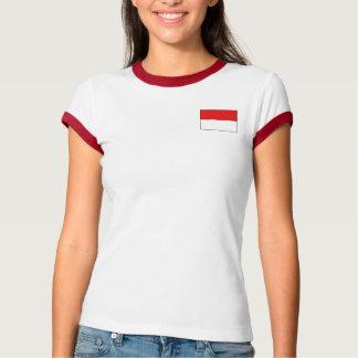 Indonesien-Flagge + Karten-T - Shirt
