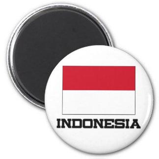 Indonesien-Flagge Runder Magnet 5,7 Cm