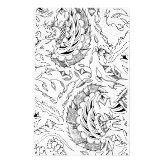 Indonesische Pflanzen und Tier-Gewebe Briefpapier