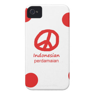 Indonesische Sprache und Friedenssymbol-Entwurf iPhone 4 Cover