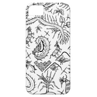 Indonesisches Insekten-u. Pflanzen-Textilmuster iPhone 5 Hülle