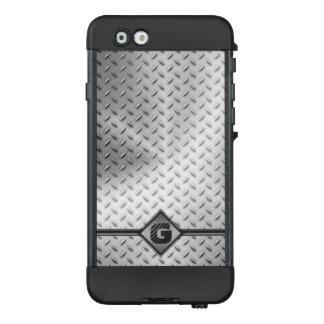 Industriediamant Metallplatten mit Monogramm LifeProof NÜÜD iPhone 6 Hülle