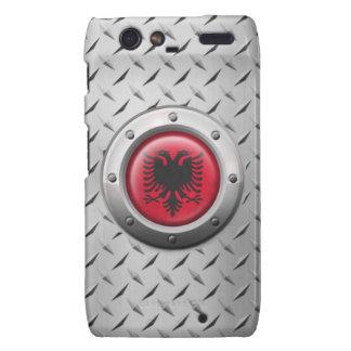 Industrielle albanische Flagge mit Stahlgraphik Droid RAZR Hülle