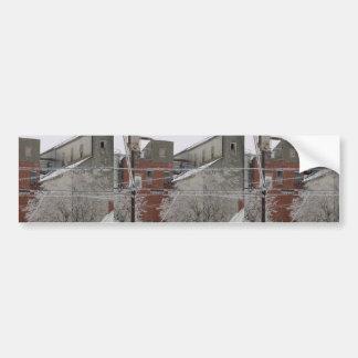 Industrielle Gebäude-Abdeckung mit Schnee Autosticker
