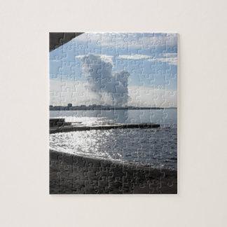 Industrielle Landschaft entlang der Küste Puzzle
