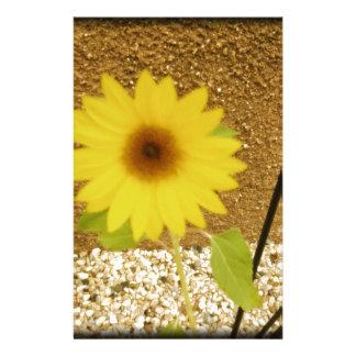 Industrielle Sonnenblume Briefpapier
