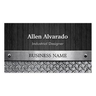 Industrieller Designer - Holz-und Metallblick Visitenkarten