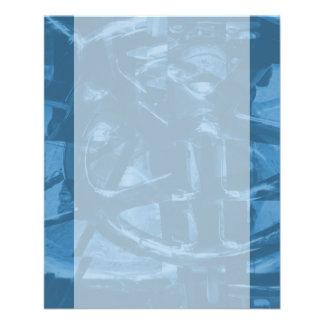 Industrieller Themed abstrakter Entwurf im Blau 11,4 X 14,2 Cm Flyer